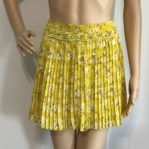American Eagle Outfitters Yellow Pleated Mini